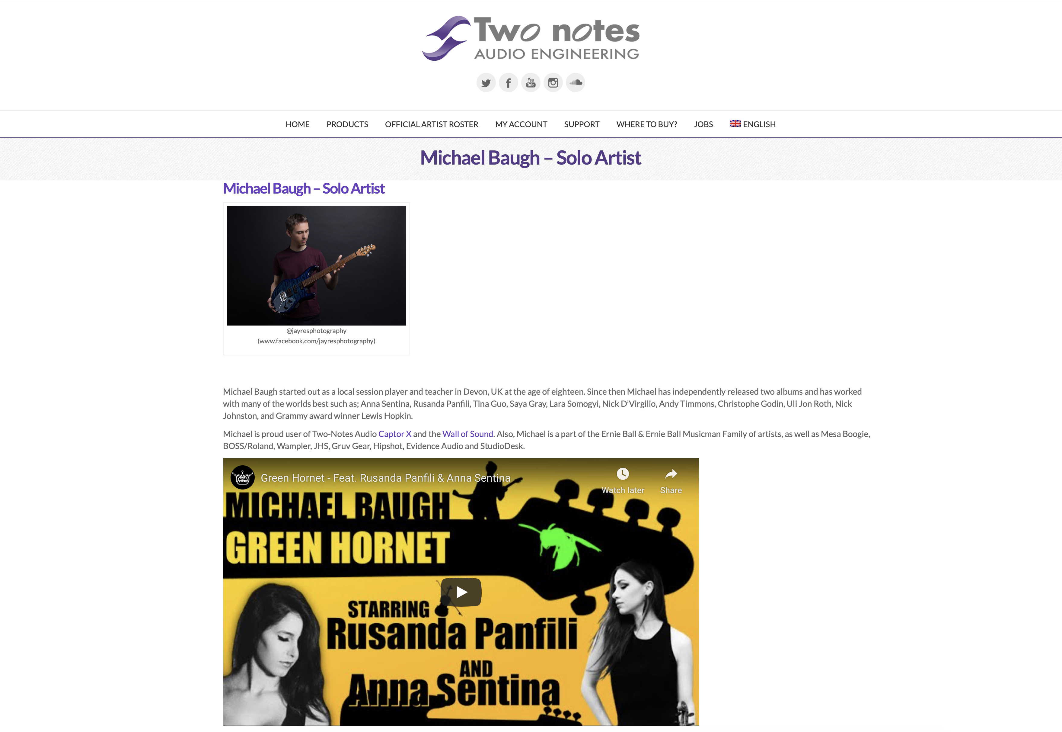 Endorsed by Two Notes Audio Engineering